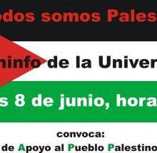 LA COMISIÓN DE APOYO AL PUEBLO PALESTINO - URUGUAY INVITA A ACTO SOLIDARIO