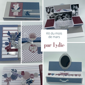 KIT202103 : KIT ALBUM MARS 2021 PAR LYDIE fee du scrap