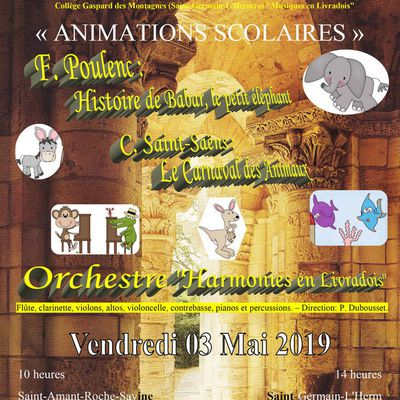 ANIMATIONS SCOLAIRES 2019
