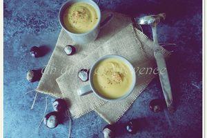 Soupe de potiron, carottes et châtaignes