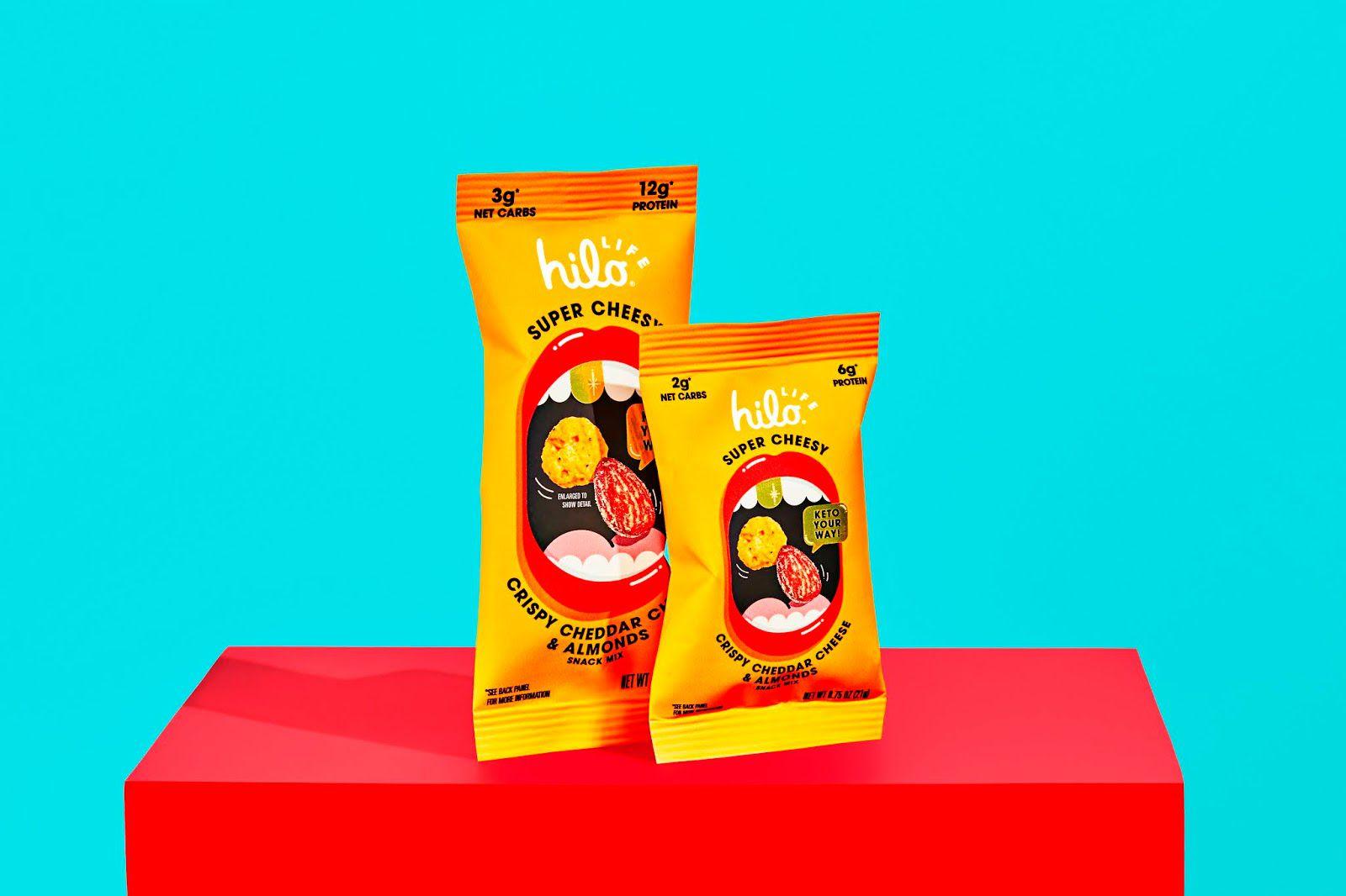 Hilo Life (chips keto à base de farine d'amande) I Design : Hilo Life, Etats-Unis (mars 2021)