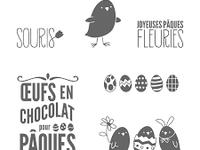 Joyeuses Pâques Fleuries - carte pop up box