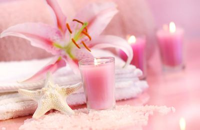 SPA - Relaxation - Beauté - Bougies - Pink - Wallpaper - Free