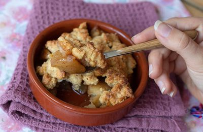 Crumbles aux pommes / caramel (Recette de Cyril Lignac) (recette sans gluten)