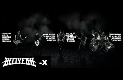 "La nouvelle lyrics video de HELLYEAH ""X"""
