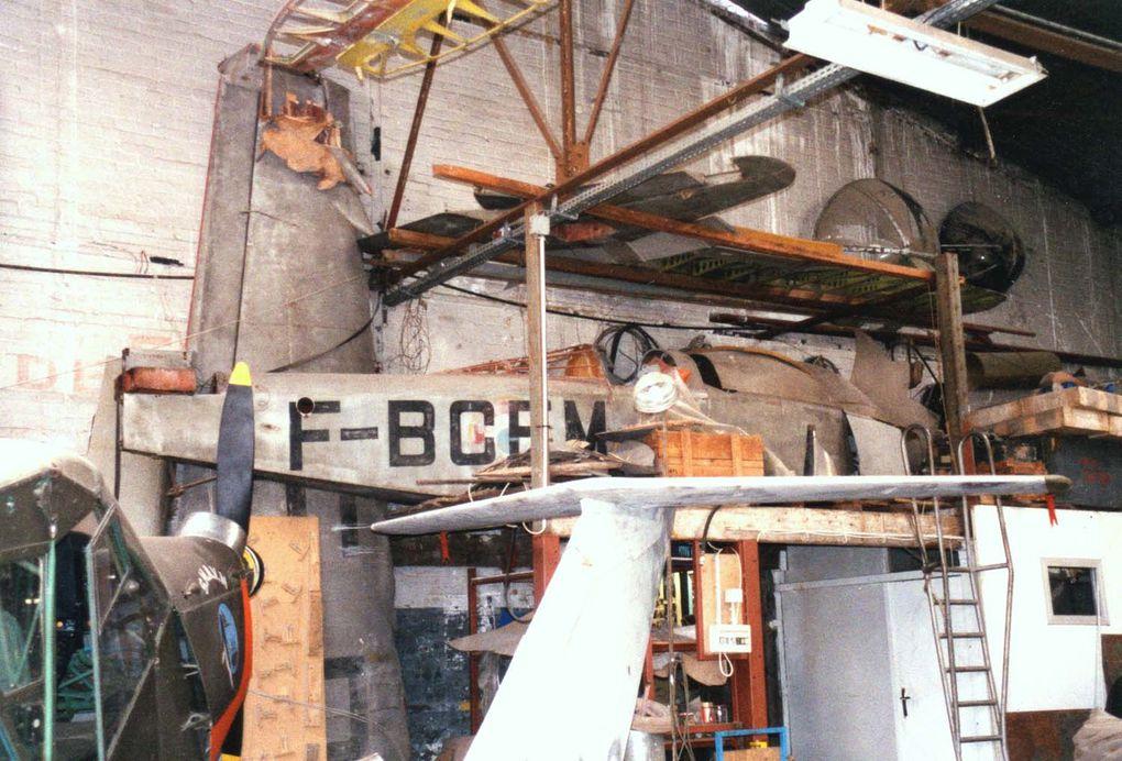 Le Mauboussin 125 N°919 F-BCEM stocké chez les Ailes Anciennes du Bourget. (Diaporama 2 photos)