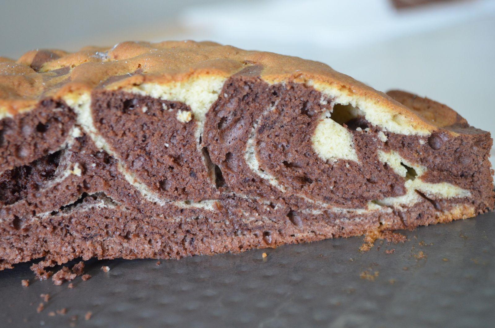 Gâteau marbré, type savane