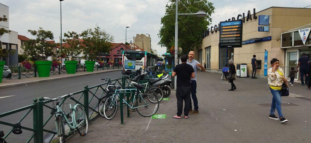 Marquage au sol pour les emplacements vélos sur Colombes
