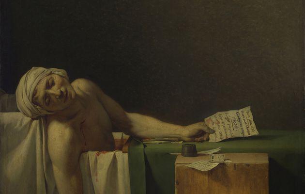 Vidéo et analyse de l'œuvre - La Mort de Marat - du peintre Jacque-Louis David