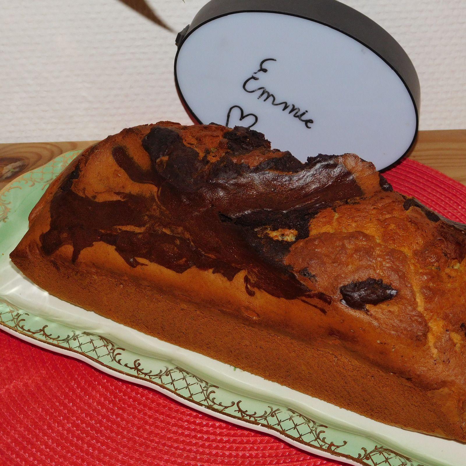 Gâteau marbré express.