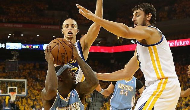Steph Curry, Andrew Bogut and Golden State Warriors clinch playoff series against Denver Nuggets