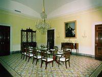 Vues des pièces d'apparat de la Maison-Blanche sous l'ère Kennedy (Library J. F. Kennedy)