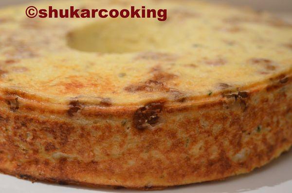 Gâteau au chou-fleur, fromage blanc et parmesan.