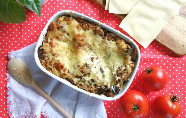 Lasagnes à la ratatouille et au fromage