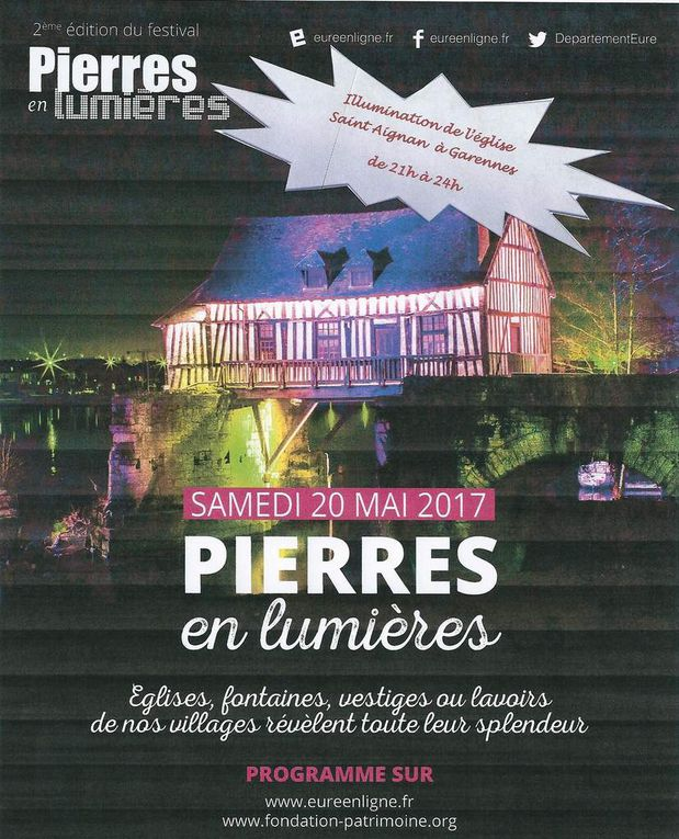 Pierres en Lumières 2017 - samedi 20 mai 2017