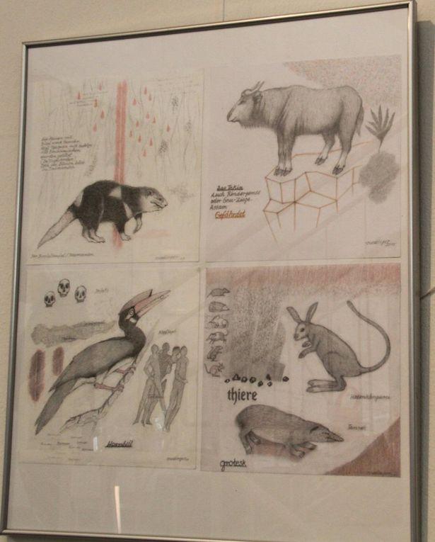 """Ausstellung """"Wilderness"""" mit Zeichnungen und Malerei zum Thema """"Biodiversität"""" des Weltenbummlers Georg Ruedinger im Jüdischen Kulturmuseum Veitshöchheim bis 5.7."""