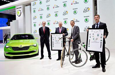 ŠKODA a renouvelé son partenariat avec le Tour de France jusqu'en 2018
