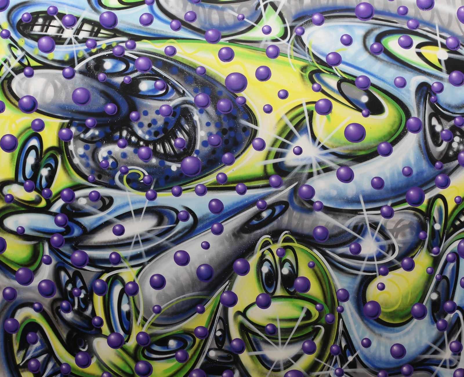 """""""Ball Z"""", 2020 de Kenny SCHARF - Courtesy de l'artiste et de la Galerie Almine Rech © Photto Éric Simon"""