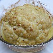 Chou fleur rôti au lait de coco - Cuisine gourmande de Carmencita