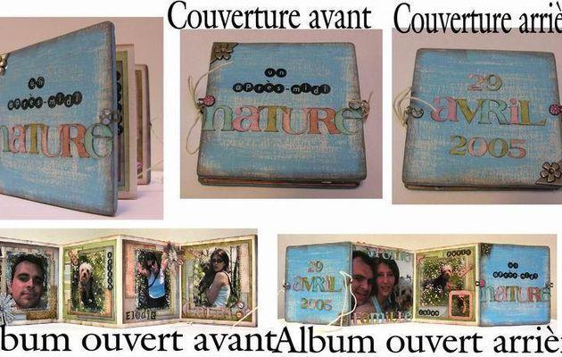 Mini Album Accordéon en Bois