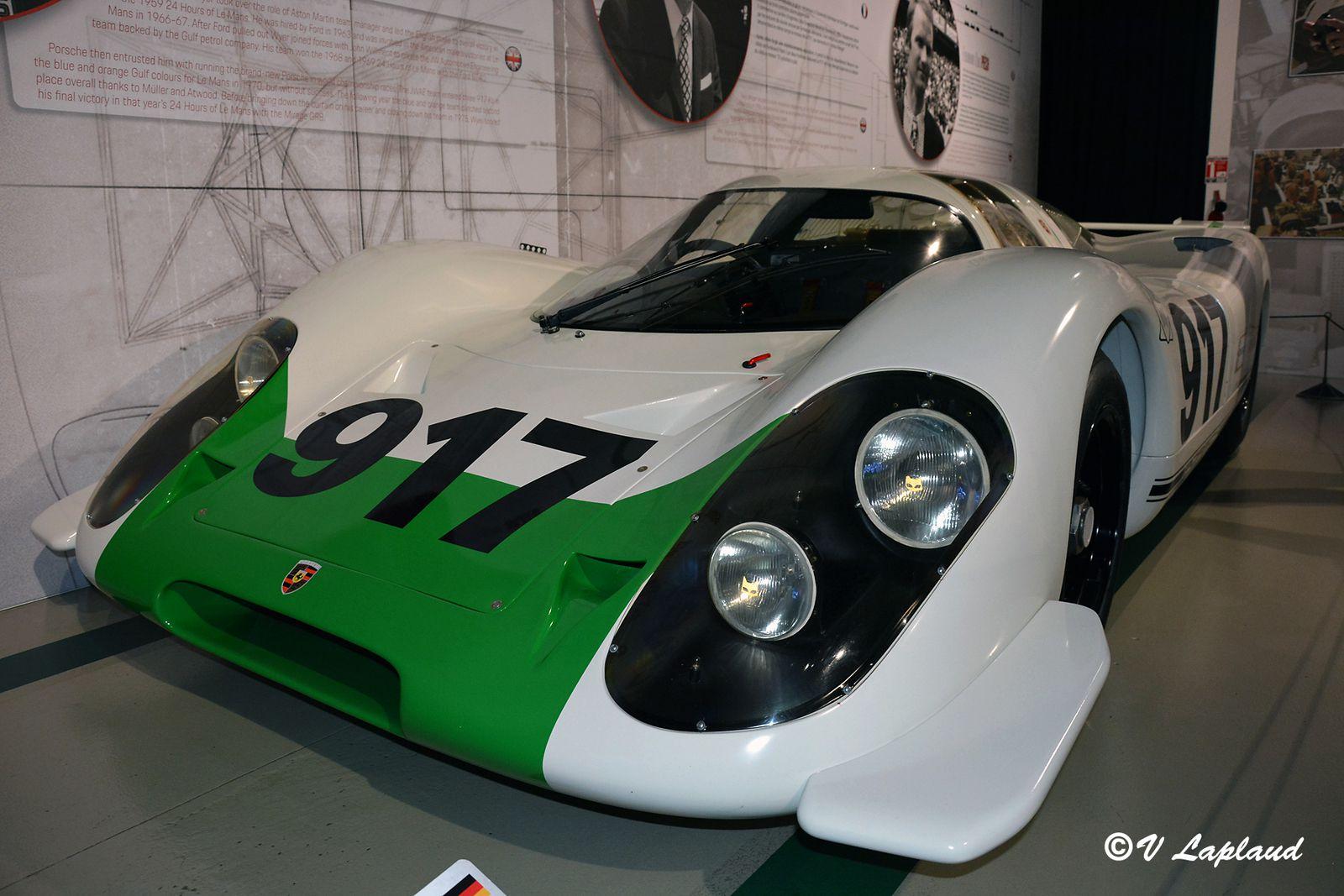 Porsche 917-001, exposition 917 Made for Le Mans, Musée du Mans 2020.