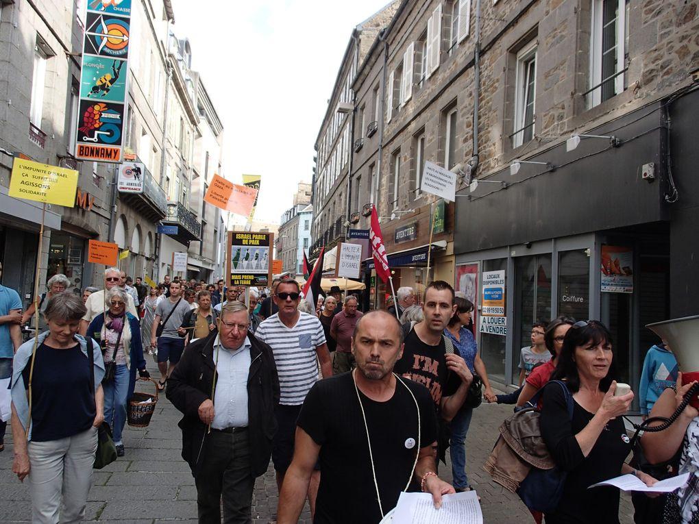 Manifestation en solidarité avec le Peuple Palestinien. Manifestation de Juillet et Août 2014