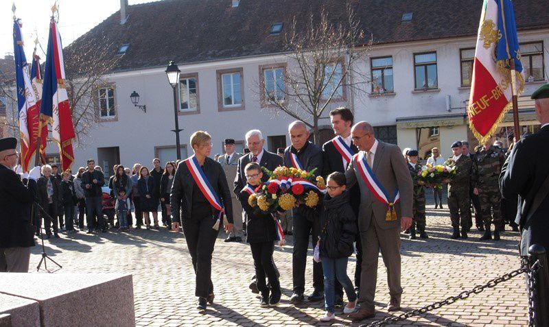 Cérémonie du 97ème anniversaire de l'Armistice de 1918 à Neuf Brisach