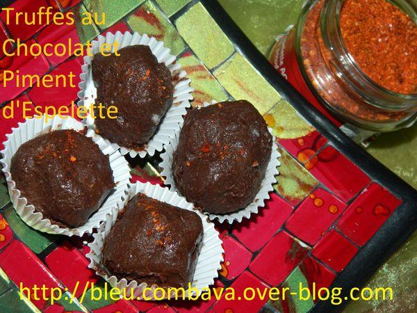 Truffes Chocolat Noir et Piment d'Espelette