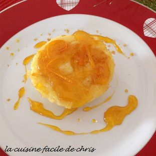 mini pudding à l'orange