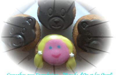 """Cupcakes aux Framboises - """"Boucle d'Or et les Ours"""""""