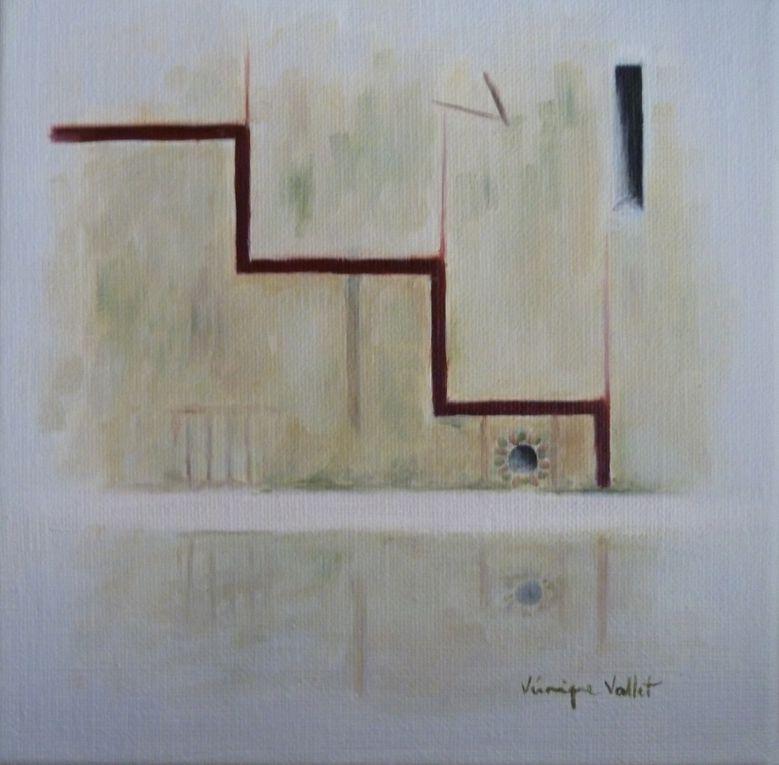 Huiles/toile - 20x20cm - De Vetigiis Memoriae 1, 2, 3, et 4 -