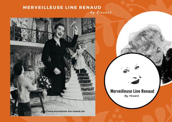 PHOTO: Line Renaud chante 'Ma petite folie' pour la quinzaine du Faubourg Saint-Honore dans un decor cree par Yvonne de Bremond d'Ars 1953