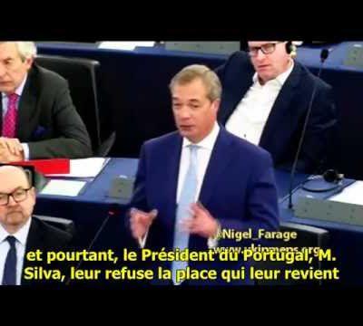 Nigel Farage - Intervention Parlement Européen Oct. 2015