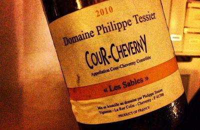 Choses bues...Cour-Cheverny Les Sables 2010 du Domaine Philippe Tessier