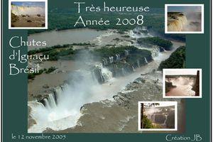 Les chutes d'Iguaçu Voeux 2008