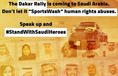 Avec les militantes saoudiennes des droits des femmes derrière les barreaux, les athlètes participant au rallye Dakar devraient montrer leur soutien