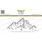LZFL229LZFL229 TAMPON TRANSPARENT MONTAGNES - Mountain Tops FEE DU SCRAP