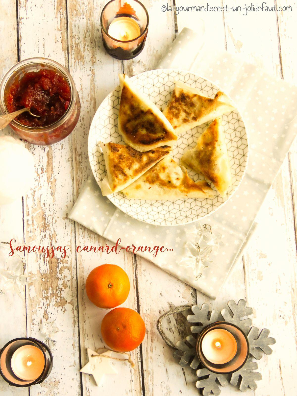 Samoussa de canard confit au chutney d'orange