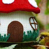 DIY crochet : tutoriel gratuit pour réaliser une maison champignon