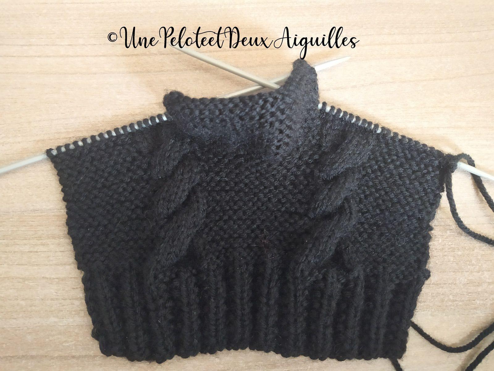 Tricoter des mitaines avec pouce pour adulte © 2021 unepeloteetdeuxaiguilles.com