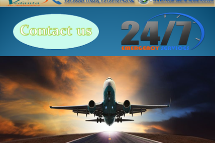 Emergency Landing Service by Vedanta Air Ambulance Service in Kolkata to Other Cities