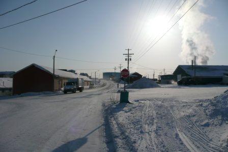 Inuvik à 200 km au dessus du cercle arctique...