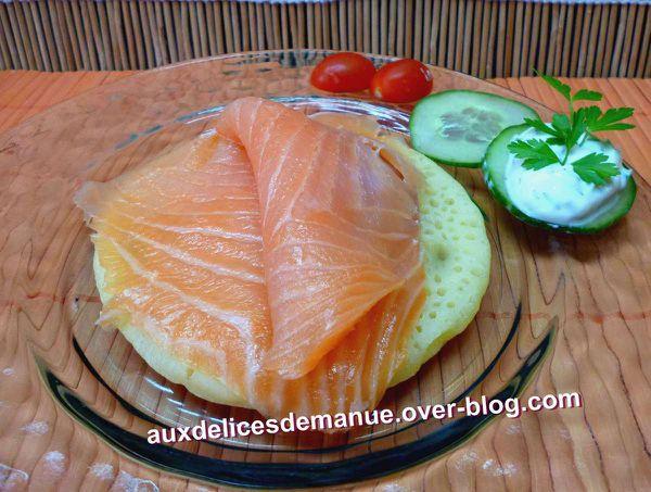 crêpes 1000 trous au saumon fumé