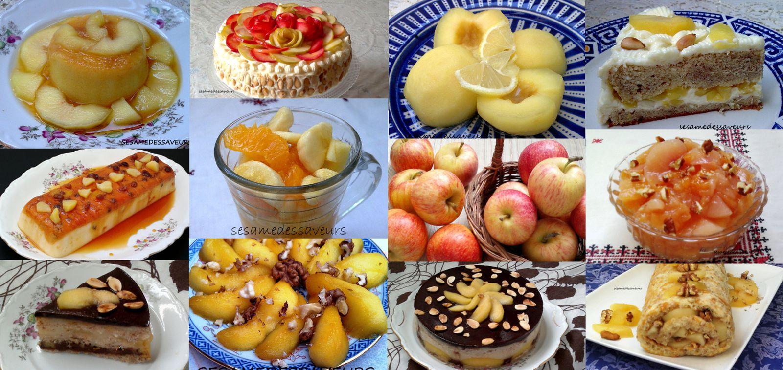 Desserts et entremets aux pommes