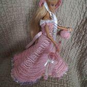 tuto gratuit barbie; chapeau, ombrelle et petit sac pour princesse sonia - laramicelle