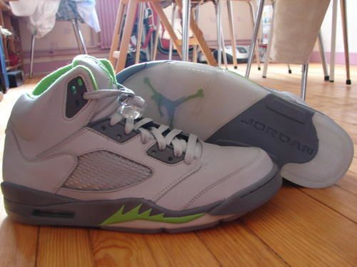 Air Jordan V Retro (Silver/Green Bean/Flint Grey )