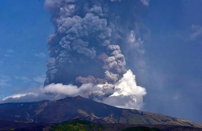 Activity of Etna, Sheveluch, Bagana and Cumbre Vieja.