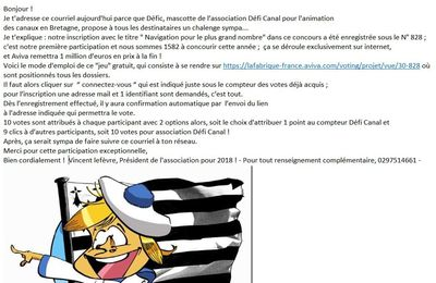 Un appel au vote original !