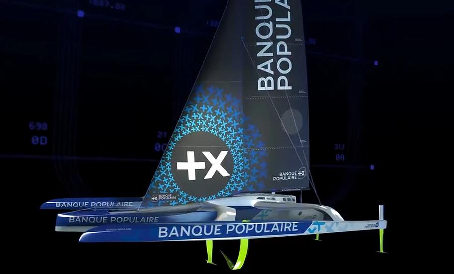 Banque Populaire XI – Premières images du nouveau maxi-trimaran d'Armel Le Cléac'h