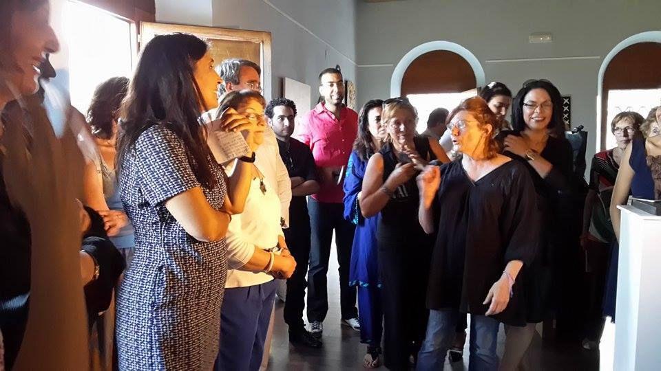 Vernissage à Sarria, Prision & Déambulatoire de la Merced, le verre de l'amitié et soirée entre artistes!